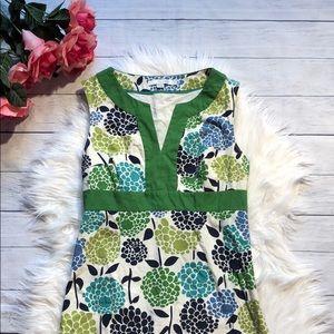 Boden Blue Green Floral Pencil Midi Dress